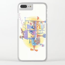 Artist Penguins Travel Around the World in Their Airplane Studio Clear iPhone Case