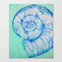 Blue Moon Shell Canvas Print
