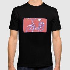 bicycle Black Mens Fitted Tee MEDIUM