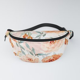 Living Coral Autumnal Roses Fanny Pack