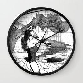 asc 549 - Le panache (The red cape) Wall Clock