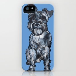 Rupert the Miniature Schnauzer iPhone Case
