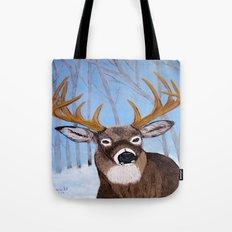Winter Buck Tote Bag