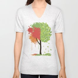 Autumn Ink Unisex V-Neck