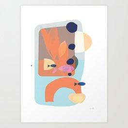 Fishes go fishing Art Print
