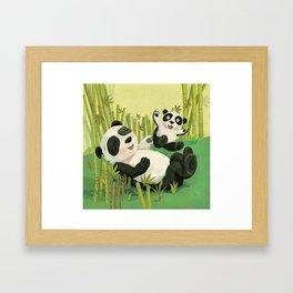 Babies on Bellies Framed Art Print