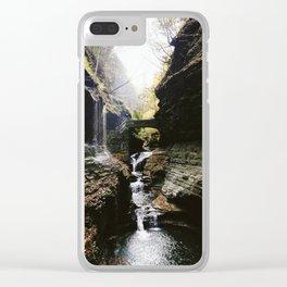 Watkins Glen Waterfall Clear iPhone Case