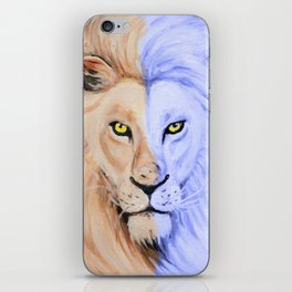 Two Face Lion Pop iPhone Skin