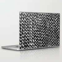 lawyer Laptop & iPad Skins featuring Hand Knitted Black S by Project M