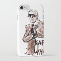karl iPhone & iPod Cases featuring Karl who? by Kalli