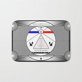 New World Order TV Test Pattern. Bath Mat