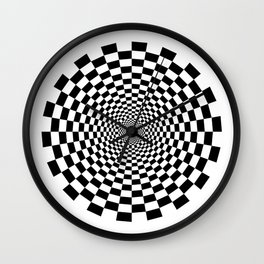 UV Sphere Top Illusion Black and White Wall Clock