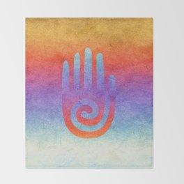 Spiral Hand Rainbow Grunge II Throw Blanket