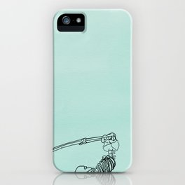 skeleton in halasana iPhone Case