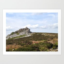 Manstone Rock From the South - iPhoneography Art Print