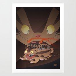 Catbus Art Print