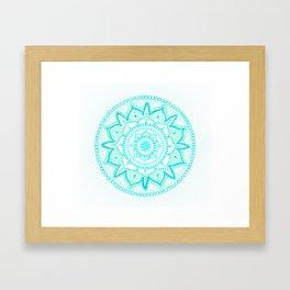 Mandala Art 03 - Turquoise Framed Art Print
