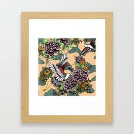 Cranes (Pink) Framed Art Print