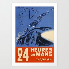 1954 Le Mans poster, Race poster, car poster, Art Print