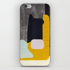 Yellow black and blue creature iPhone & iPod Skin