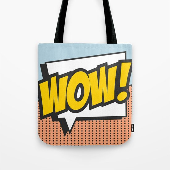 Wow (comic style) Tote Bag