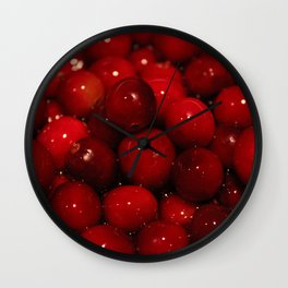 Cranberries Photography Print Wall Clock