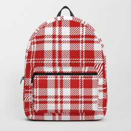 Cozy Plaid in Red and White Backpack