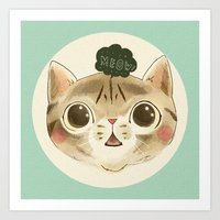 Hey Meow! Art Print