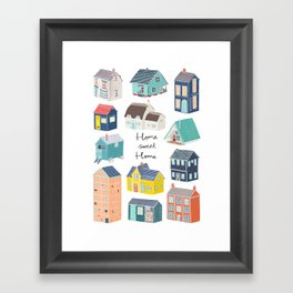 Home Sweet Home - Little Houses Print Framed Art Print