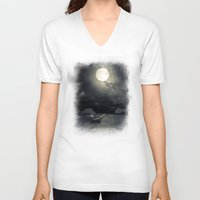 airplanes V-neck T-shirts featuring Chapter V by Viviana Gonzalez