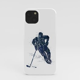 Ice Hockey Boy Player Watercolor Sports Gift iPhone Case