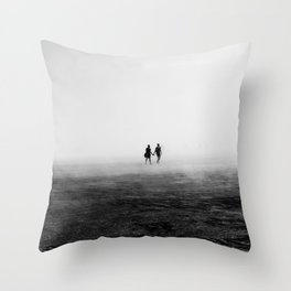 Everyone Else Disappears Throw Pillow