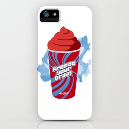 """Freeze Your Brain"" Heathers Minimalist iPhone Case"