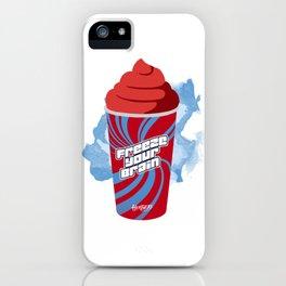 """Freeze Your Brain"" Heathers Minimalist iPhone Case"
