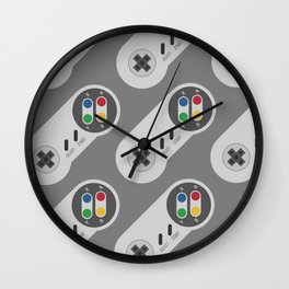 Retro Video Gamer Pattern 2 Wall Clock