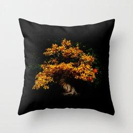 Yellow Bonsai Throw Pillow