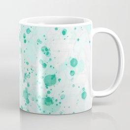 Aquamarine Ink Drops Coffee Mug
