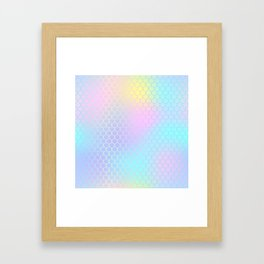 Rainbow Mermaid Abstraction Framed Art Print