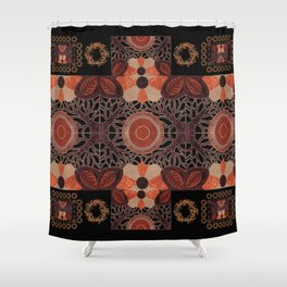 Gilded Autumn - Gilded Sunset Branches Shower Curtain