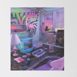 Synthwave Miami 85 Throw Blanket