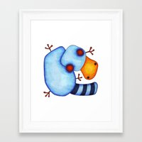 platypus Framed Art Prints featuring Platypus by Striped Aardvark