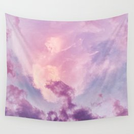 Purple Clouds Sunset (Color) Wall Tapestry