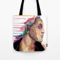sister Tote Bags featuring Sister by Siriusreno