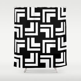 Black and White - L1 Shower Curtain
