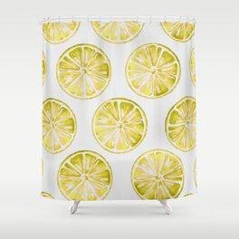 Yellow Citrus Shower Curtain