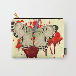 HUMOROUS SURREAL NAILED BLEEDING VAMPIRE BUTTERFLY Carry-All Pouch