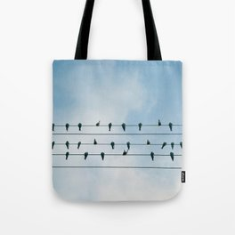 Up On A Wire Tote Bag