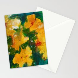 Party Pansies Stationery Cards