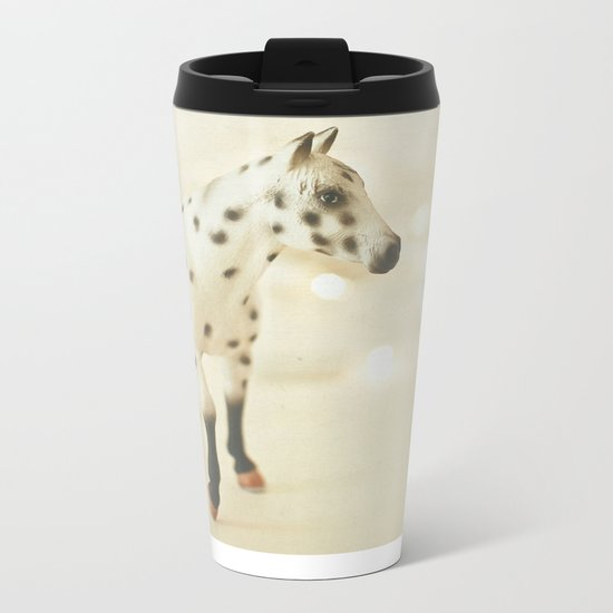 Horse in Winter Metal Travel Mug