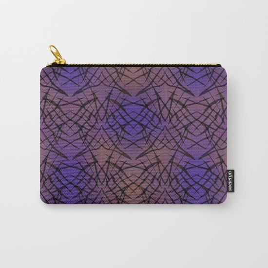 Abstract purple black pattern . Carry-All Pouch